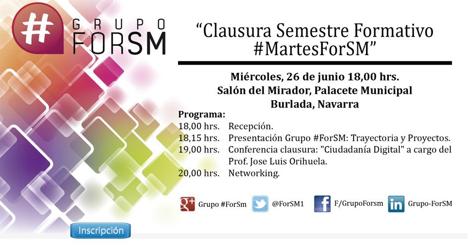 poster de la clausura #Martes ForSM