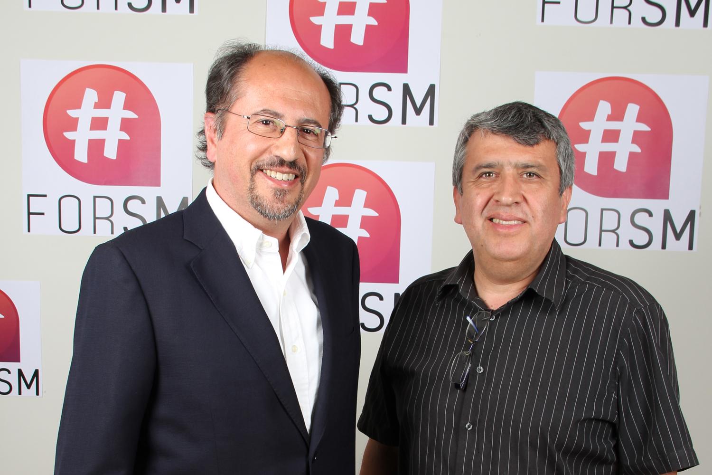 Hugo Provoste y José Luis Orihuela en el photocall