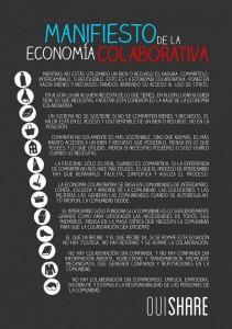 Manifiesto Economía colaborativa