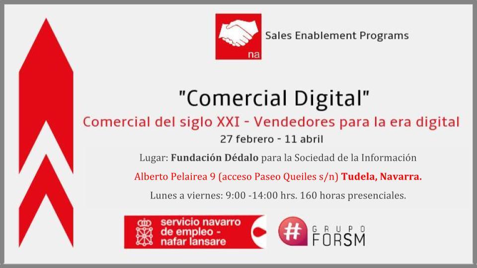 "Comercial del Siglo XXI – Vendedores para la era digital"" Tudela, 2017"