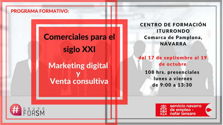 Comercial digital. Marketing y venta consultiva. Pamplona, sept. oct. 2018