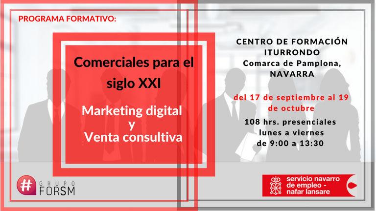 Comercial digital. Marketing y venta consultiva. Pamplona, sept. oct. 2018